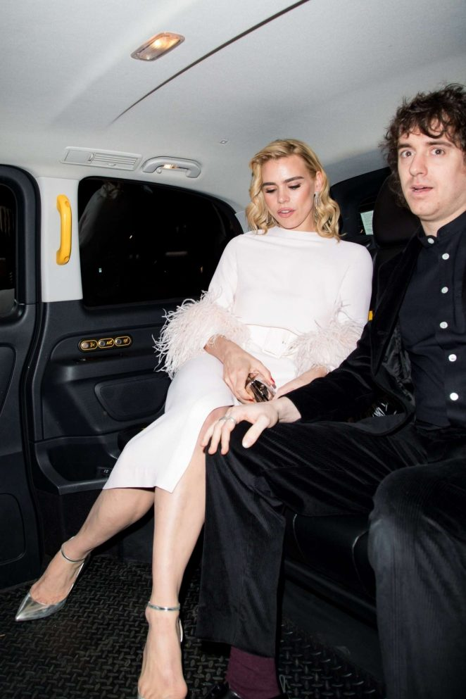 Billie Piper 2018 : Billie Piper: Leaving British Vogue Fashion and Film Party 2018 -02