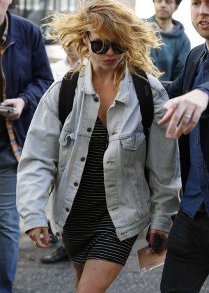 Billie Piper in Mini Dress out in London