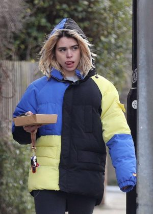 Billie Piper out in North London
