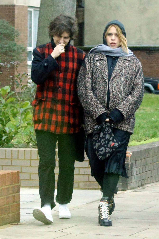 Billie Piper with her boyfriend out in London