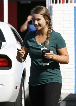 Bindi Irwin in Tights at DWTS Studio in Hollywood