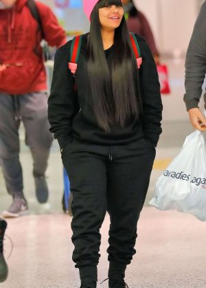 Blac Chyna - Arrives at JFK airport in NYC