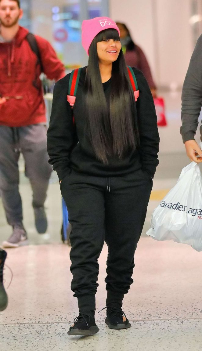 Blac Chyna – Arrives at JFK airport in NYC