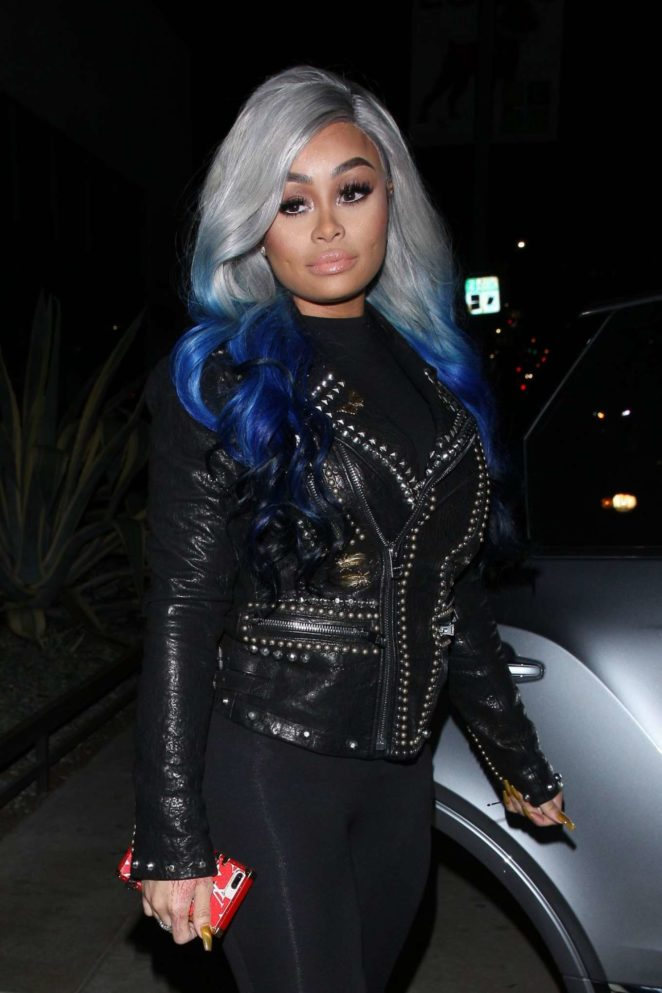 Blac Chyna - Arrives at Poppy Nightclub in West Hollywood