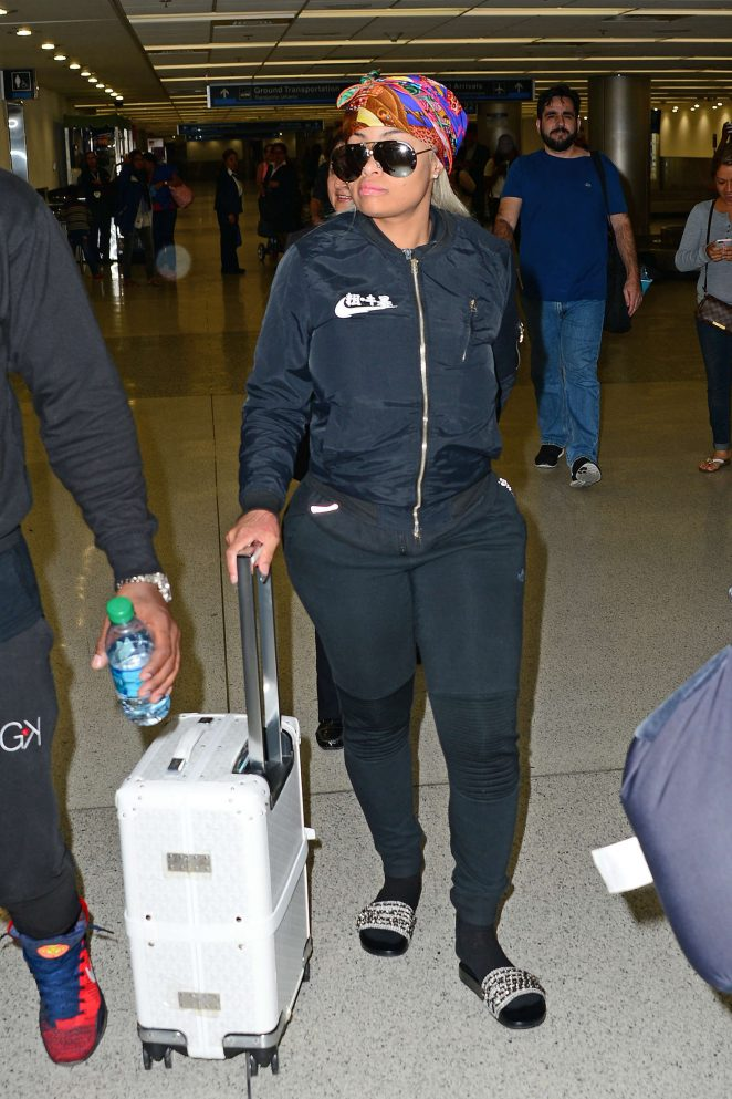 Blac Chyna Arriving at Miami Airport