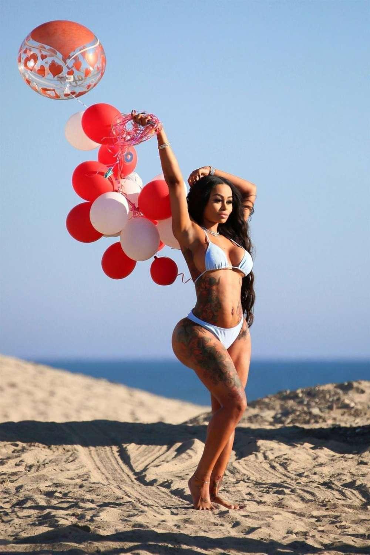 Blac Chyna In White Bikini On The Beach In Malibu Indian