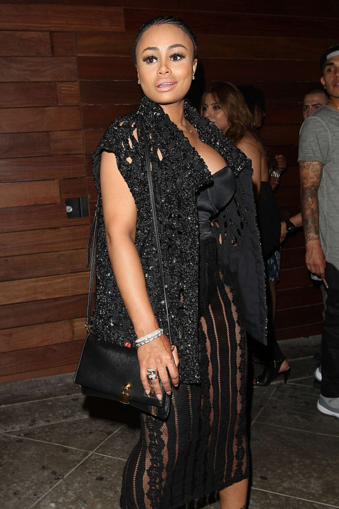 Blac Chyna in Black Dress -02