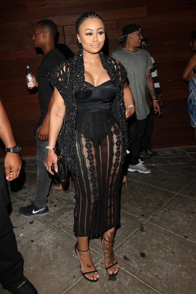 Blac Chyna in Black Dress -04