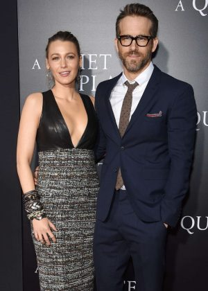 Blake Lively and Ryan Reynolds - 'A Quiet Place' Premiere in New York