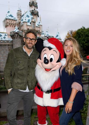 Blake Lively and Ryan Reynolds at Disneyland in Anaheim