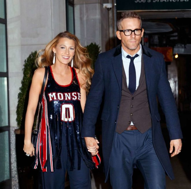 Blake Lively and Ryan Reynolds - Exiting a Special Screening of 'All I See is You' in NY