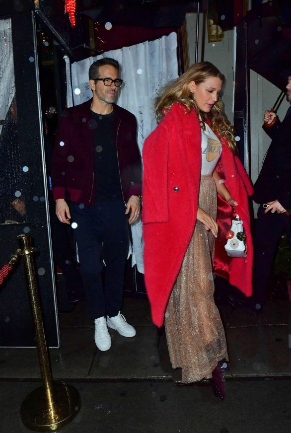 Blake Lively and Ryan Reynolds - Leaving Taylor Swift's 30th Birthday Bash in NYC
