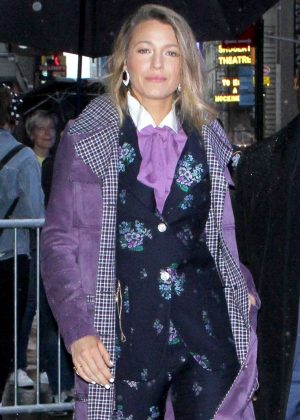 Blake Lively - Arrives at 'Good Morning America' show in New York City
