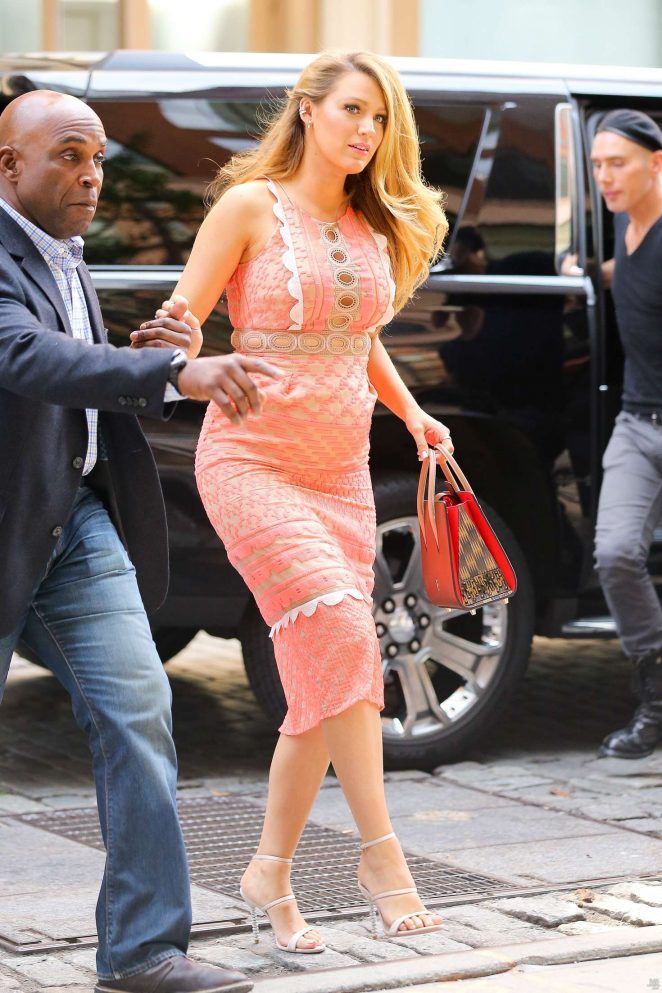 Blake Lively: Arriving at Cafe Society -01