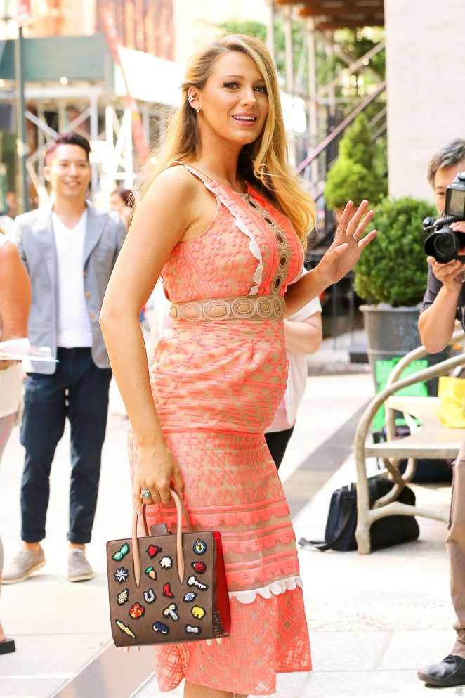 Blake Lively - Arriving at Cafe Society in New York