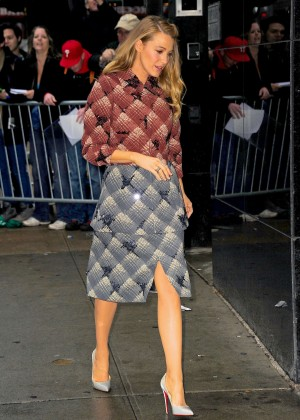 Blake Lively - Arriving at 'Good Morning America' in NYC