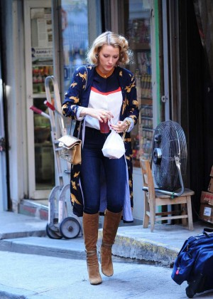 Blake Lively at Woody Allen Set in NYC