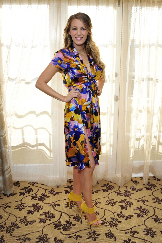 Blake Lively – Getting ready to film an interview in LA