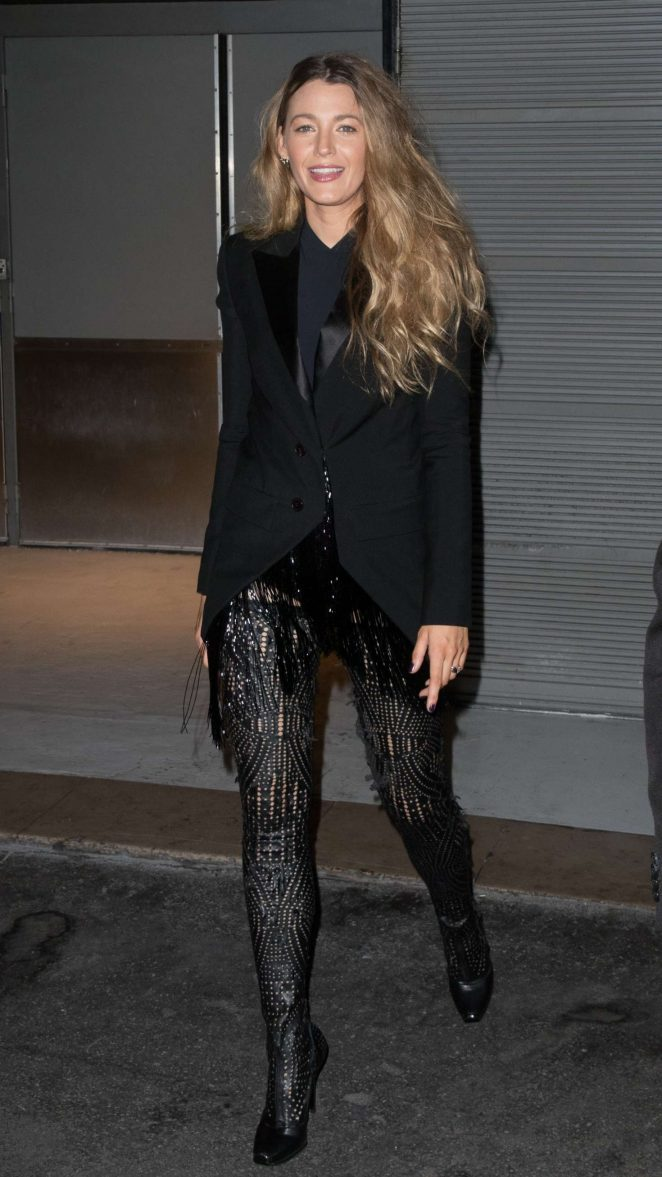 Blake Lively in Black - Out in Paris