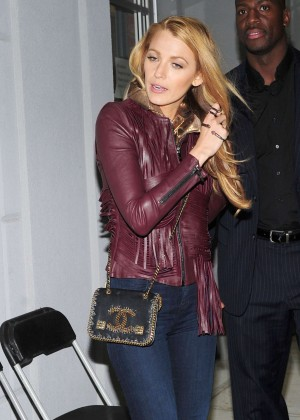 Blake Lively in Jeans out in NYC