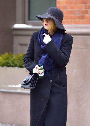 Blake Lively in Long Coat out in New York City