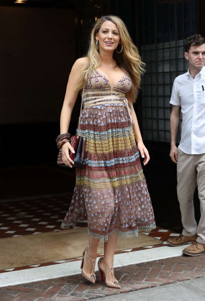 Blake Lively In Summer Dress -10 - GotCeleb