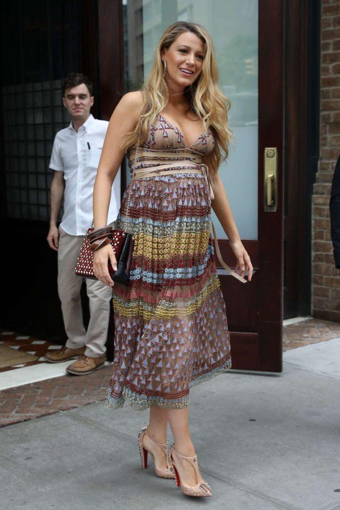 Blake Lively In Summer Dress -12 - GotCeleb