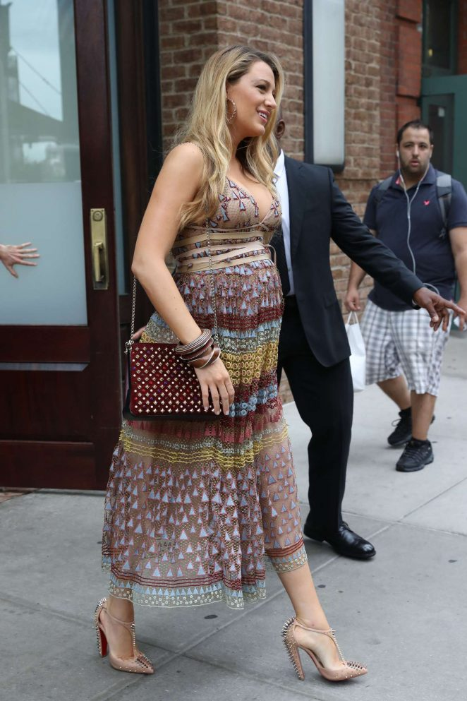 Blake Lively In Summer Dress -17 - GotCeleb