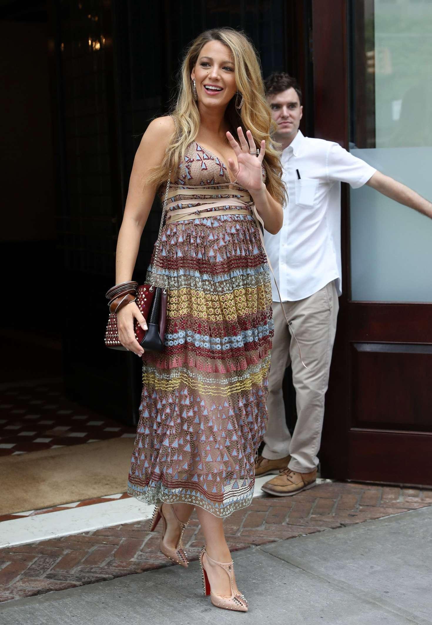 Blake Lively In Summer Dress -19 - GotCeleb