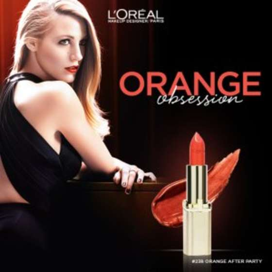 Blake Lively - L'Oreal Paris Color Riche Holiday 2015