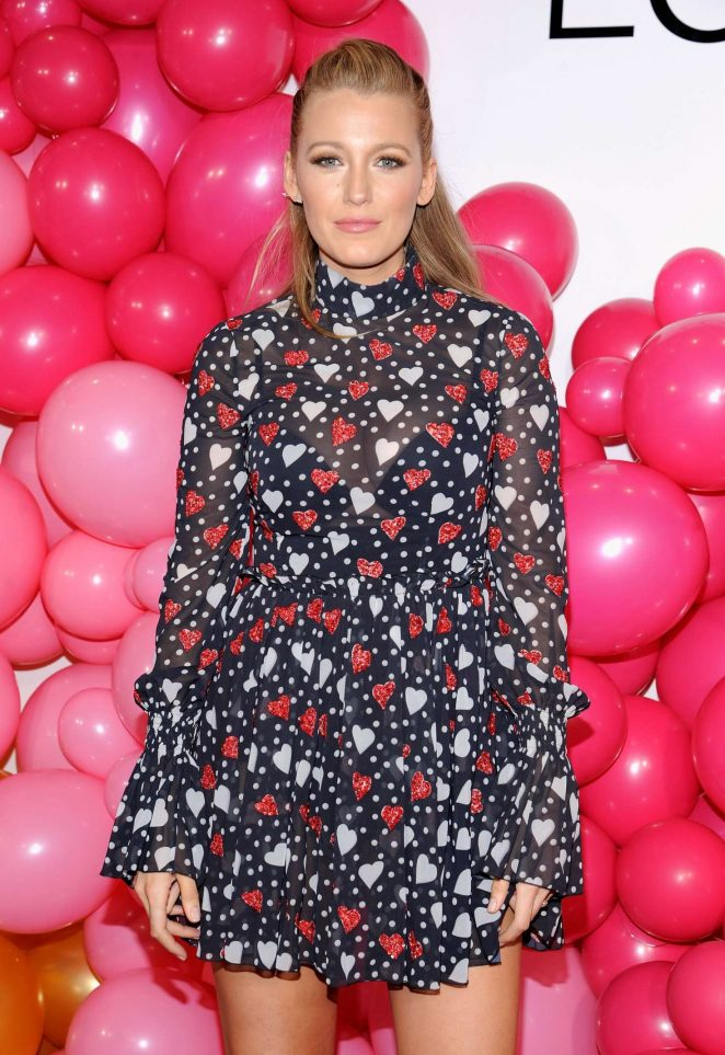 Blake Lively – L'Oreal Paris Paints Colorista launch event in NYC