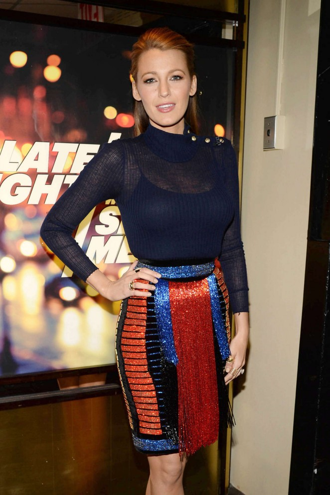 Blake Lively – 'Late Night with Seth Meyers' in NYC