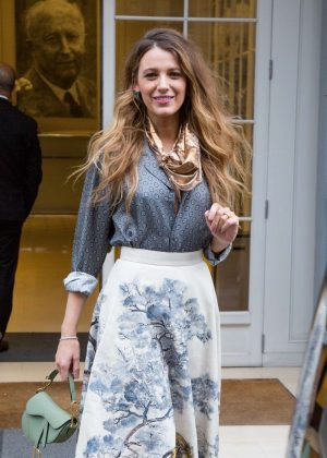 Blake Lively - Leaving Dior office in Paris