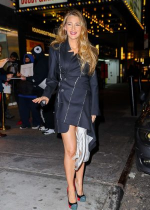 Blake Lively - Leaving Feinstein's/54 Below in NYC