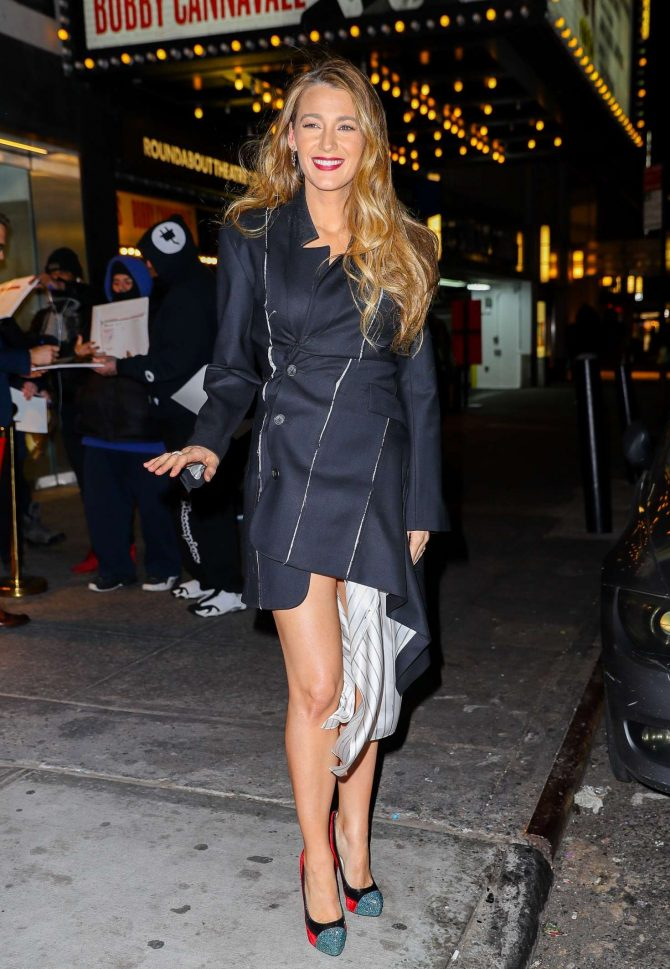 Blake Lively – Leaving Feinstein's/54 Below in NYC