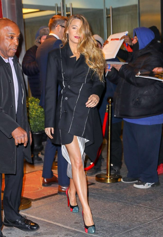 Blake Lively: Leaving Feinsteins 54 Below -04