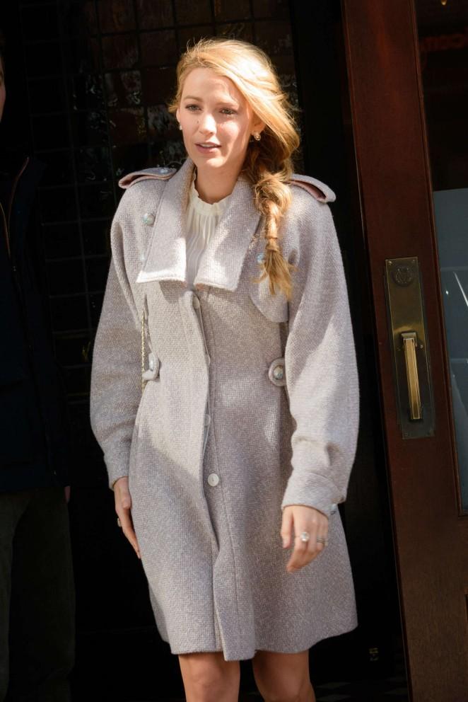 Blake Lively – Leaving her hotel in New York City