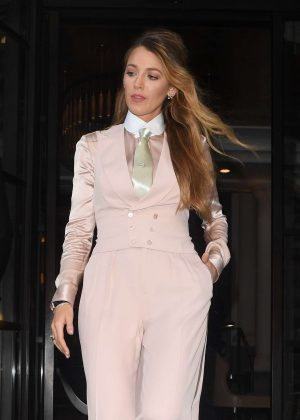 Blake Lively - Leaving The Corinthia Hotel in London