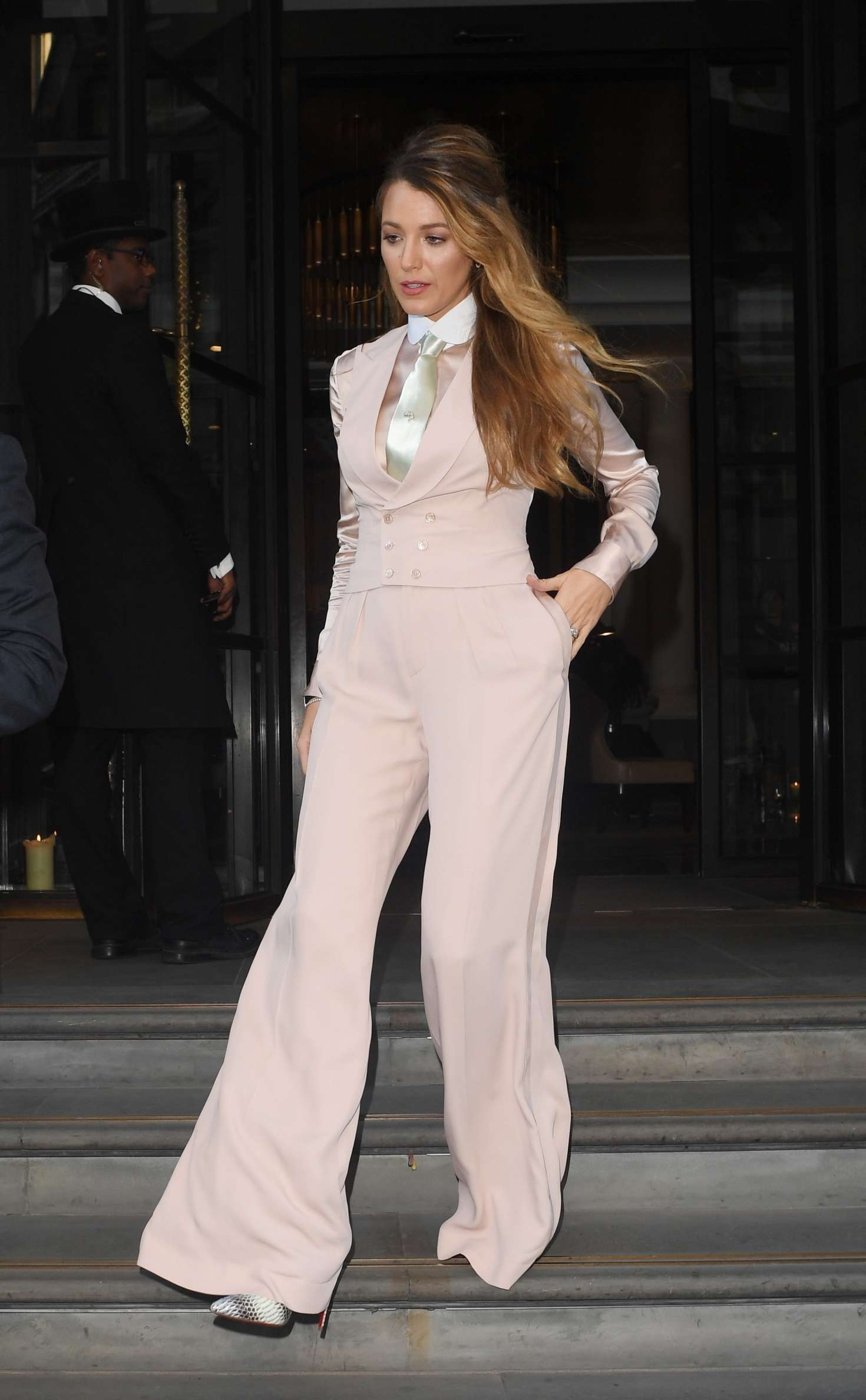 Blake Lively 2018 : Blake Lively: Leaving The Corinthia Hotel -09