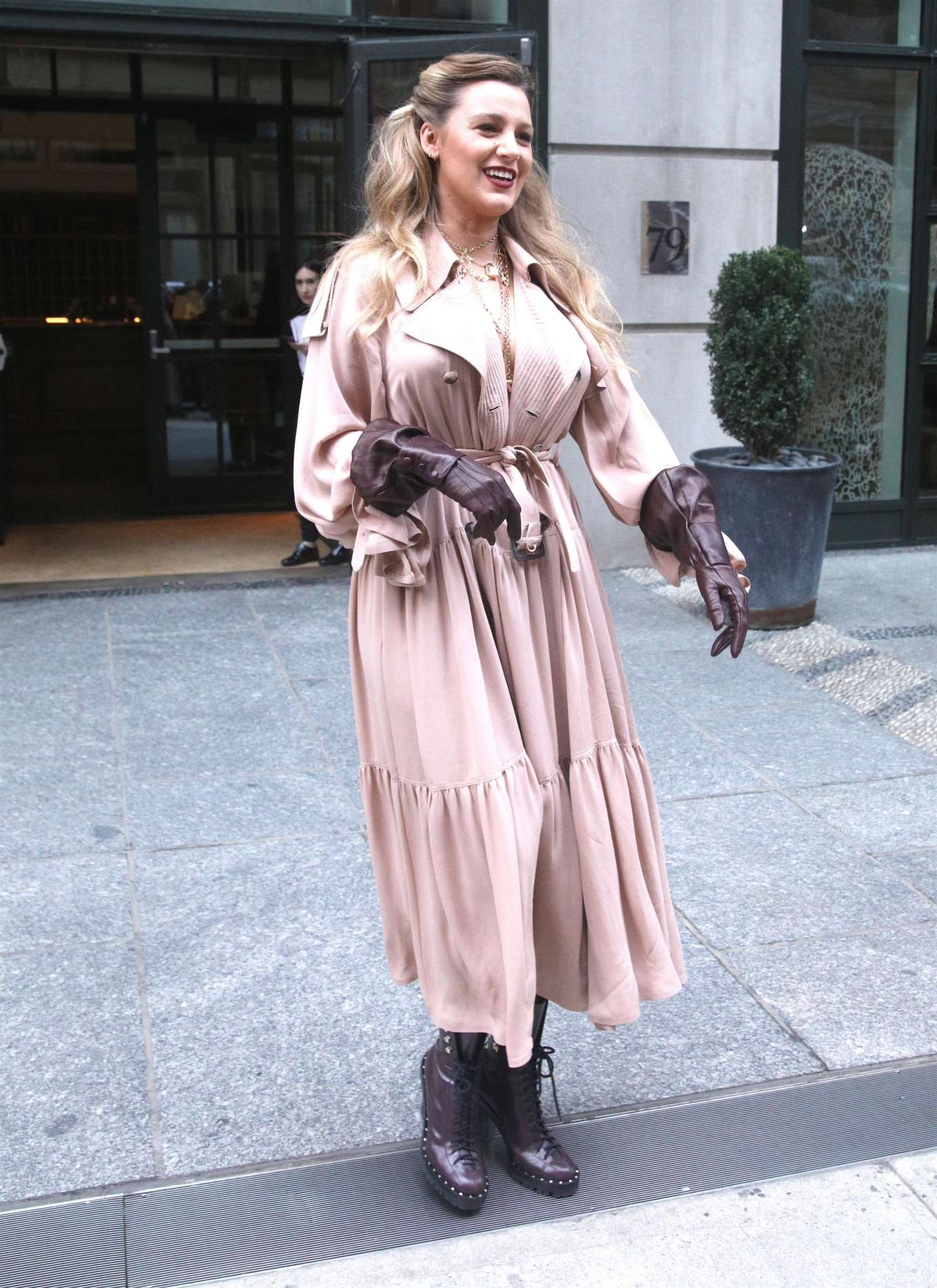 Blake Lively - Leaving the Crosby hotel in New York