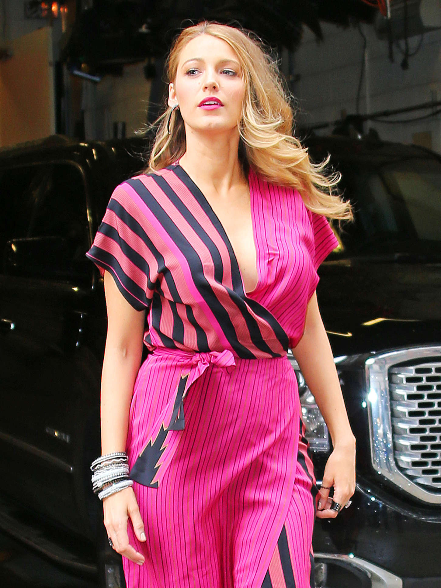 Blake Lively in Pink at Live with Kelly and Michael in NYC
