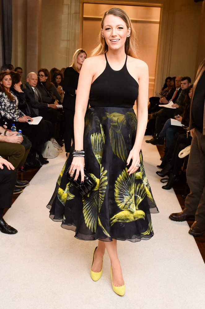 Blake Lively – Marchesa  Fashion Show in New York City