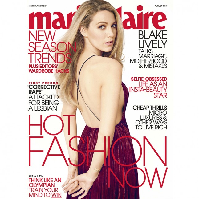 Blake Lively – Marie Claire UK (August 2016)