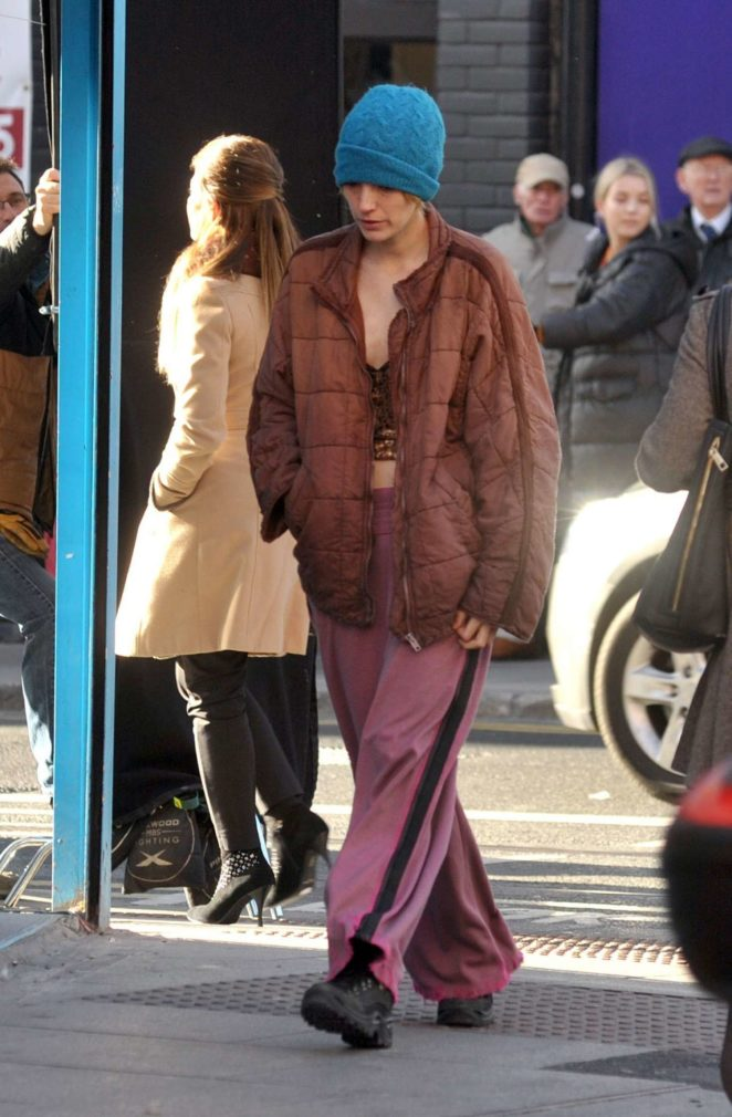 Blake Lively - On the set of 'The Rhythm Section' in Dublin