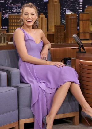 Blake Lively on 'The Tonight Show Starring Jimmy Fallon' in New York