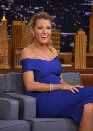Blake Lively on 'The Tonight Show Starring Jimmy Fallon' in NY