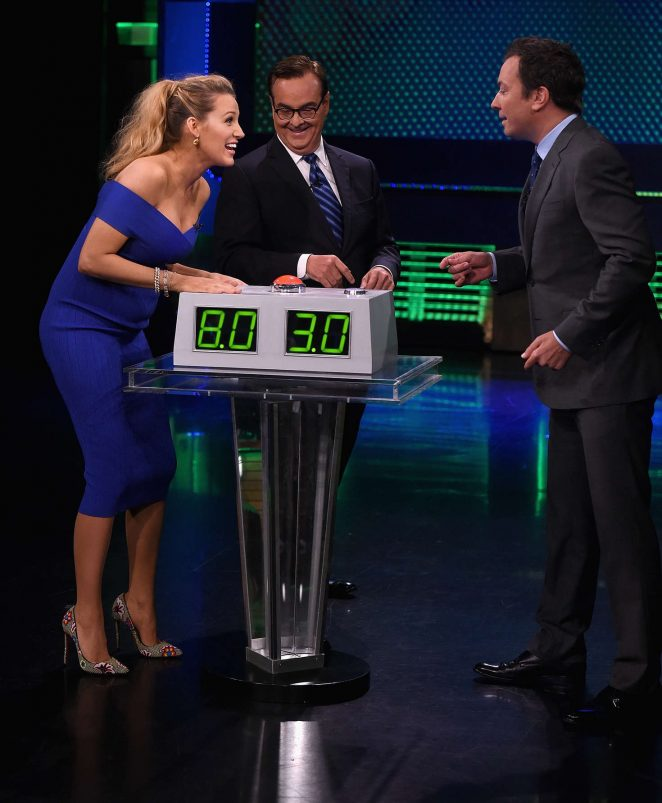 Blake Lively on The Tonight Show Starring Jimmy Fallon -04