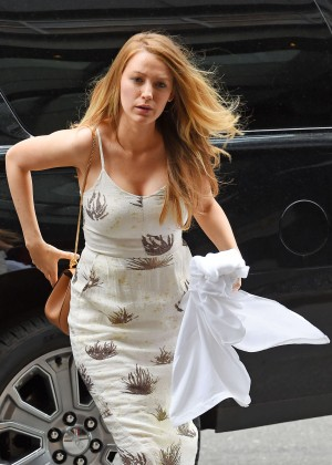 Blake Lively in Tight Dress Out in NYC