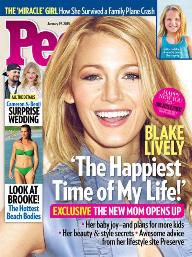 Blake Lively – People Cover Magazine (January 2015)