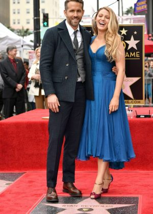 Blake Lively - Ryan Reynolds honored with star on The Hollywood Walk of Fame in LA